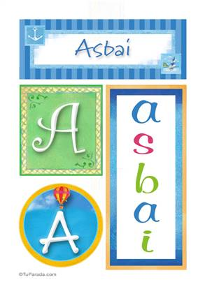 Asbai, nombre, imagen para imprimir