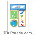 Johan, nombre, imagen para imprimir