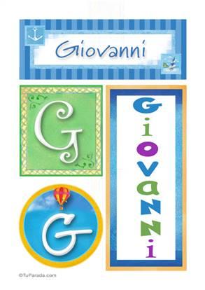 Giovanni, nombre, imagen para imprimir