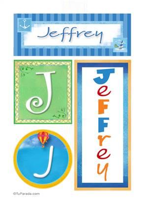 Jeffrey, nombre, imagen para imprimir
