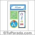 Alam, nombre, imagen para imprimir