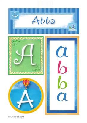 Abba, nombre, imagen para imprimir