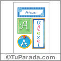 Alexei , nombre, imagen para imprimir