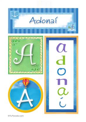 Adonaí , nombre, imagen para imprimir