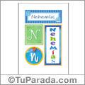 Nehemías, nombre, imagen para imprimir