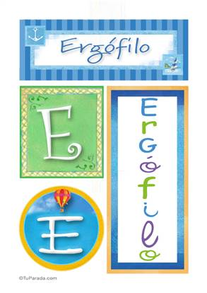 Ergófilo, nombre, imagen para imprimir