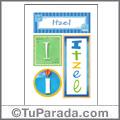 Itzel, nombre, imagen para imprimir