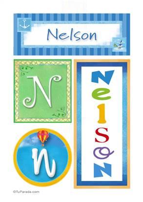 Nelson, nombre, imagen para imprimir
