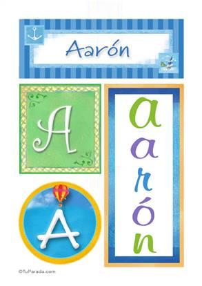 Aarón, nombre, imagen para imprimir