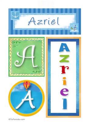 Azriel, nombre, imagen para imprimir