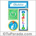 Obdulio, nombre, imagen para imprimir