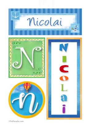 Nicolai, nombre, imagen para imprimir