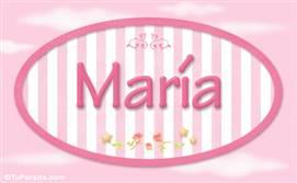 María - Nombre decorativo