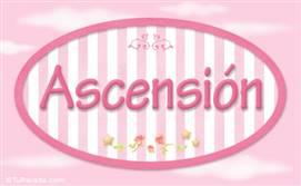 Ascensión - Nombre decorativo
