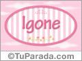 Igone - Nombre decorativo
