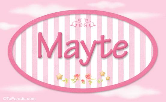 mayte - nombre decorativo - ni u00f1as