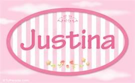 Justina - Nombre decorativo