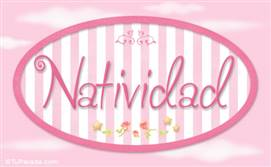 Natividad - Nombre decorativo