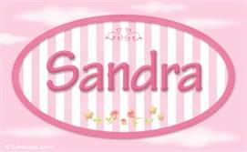 Sandra - Nombre decorativo