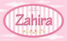 Zahira - Nombre decorativo