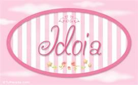 Idoia - Nombre decorativo