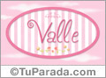 Valle - Nombre decorativo