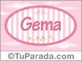 Gema - Nombre decorativo