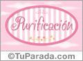 Purificación - Nombre decorativo