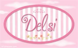 Delsi - Nombre decorativo