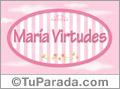 María Virtudes - Nombre decorativo