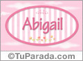Abigail, nombre de bebé de niña