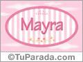 Mayra - Nombre decorativo