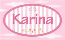 Karina - Nombre decorativo