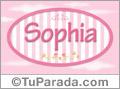 Sophia - Nombre decorativo