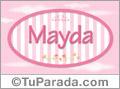 Mayda - Nombre decorativo