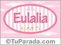 Eulalia - Nombre decorativo