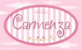 Carmenza - Nombre decorativo