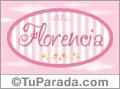Florencia - Nombre decorativo