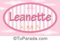 Leanette - Nombre decorativo
