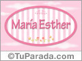 María Esther - Nombre decorativo