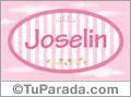 Joselin - Nombre decorativo