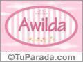 Awilda - Nombre decorativo