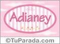 Adianey, nombre de bebé de niña