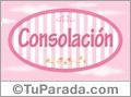 Consolación - Nombre decorativo