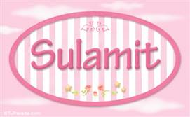 Sulamit - Nombre decorativo