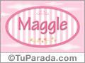 Maggle - Nombre decorativo