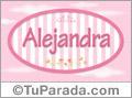 Alejandra - Nombre decorativo