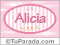Alicia - Nombre decorativo