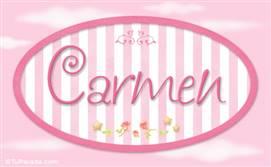 Carmen - Nombre decorativo