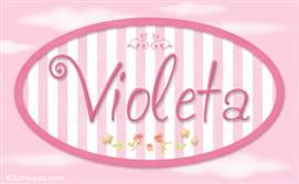 Violeta - Nombre decorativo